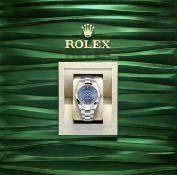 """On Sale ROLEX DATEJUST 41mm """"OYSTERSTEEL"""" OYSTER BRACELET *AZZURRO BLUE DIAL* NEW MODEL*"""