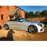 "(ON SALE) MERCEDES E220d ""AMG-LINE / PREMIUM"" 9G CABRIOLET (19 REG) COMAND - AIR SCARF - 360 CAMERA"