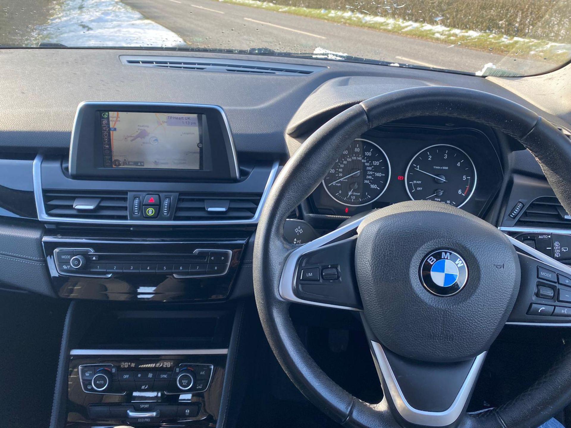 "ON SALE BMW 218d ""SPORT"" MPV 2.0 DIESEL ""EURO 6"" (2016 REG) - 1 OWNER - GREAT SPEC - BLACK - LOOK!! - Image 13 of 16"