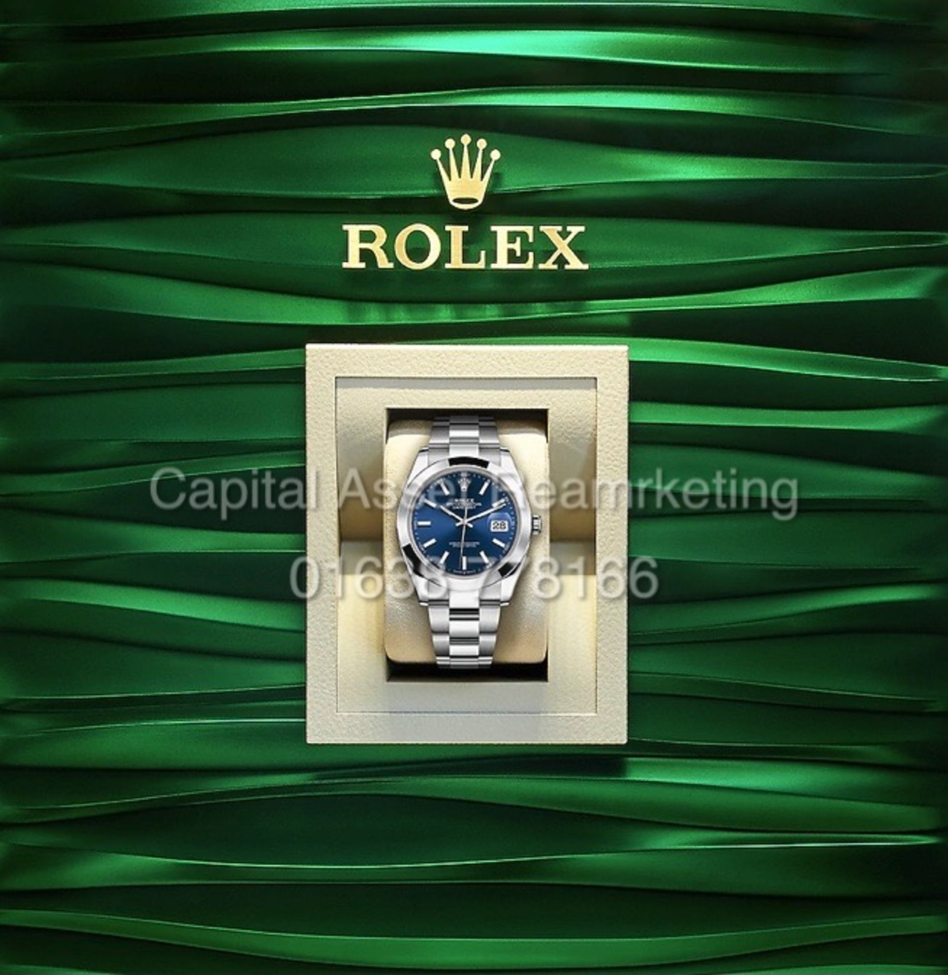 """On Sale ROLEX DATEJUST 41mm """"OYSTERSTEEL"""" BRAND NEW / UNWORN """"BRIGHT BLUE DIAL"""" ALL STEEL - Image 2 of 2"""