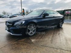 "(ON SALE) MERCEDES C220d ""AMG-LINE"" 9G TRONIC COUPE (18 REG) 40K MILES *SAT NAV* LEATHER-REAR CAMERA"