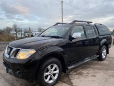 "NISSAN NAVARA ""TEKNA"" BLACK 2.5DCI AUTOMATIC - 64 REG - LEATHER - SAT NAV - CANOPY - NO VAT!!!"