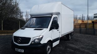 "MERCEDES SPRINTER 314CDI ""LWB"" LUTON BOX VAN - 2018 MODEL -EURO 6 - LOW MILES - WITH TAIL LIFT"
