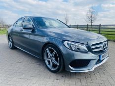 "ON SALE MERCEDES C220d ""AMG-LINE"" 9G-TRONIC - (2019 MODEL) - 1 KEEPER - LEATHER - SAT NAV- ONLY 34K"