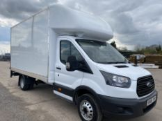 "ON SALE FORD TRANSIT T350L 2.0TDCI ""130""EURO 6 ""LWB LUTON BOX VAN"" (2019 MODEL)1 OWNER- TWIN WHEELER"