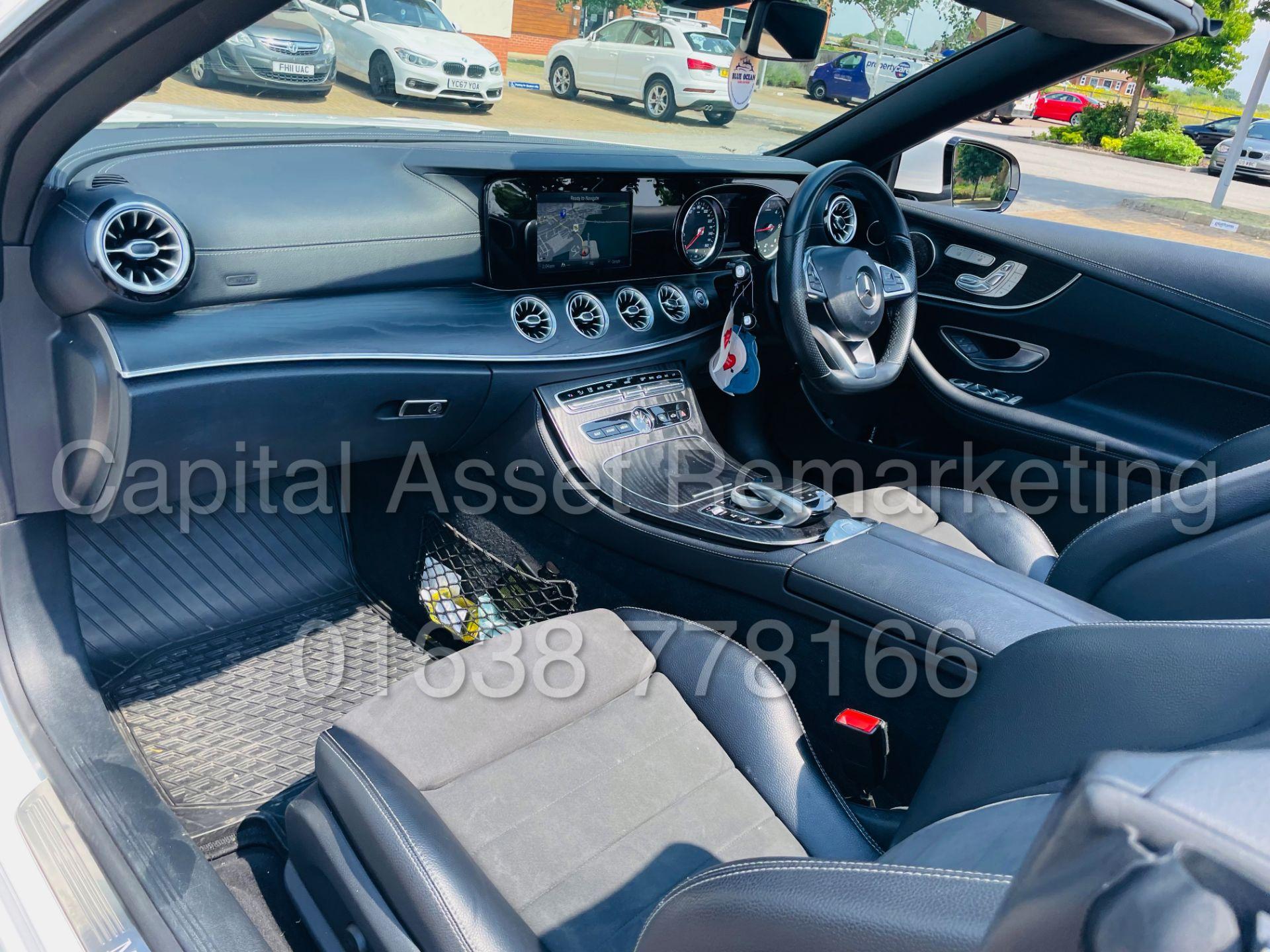 MERCEDES-BENZ E220d *AMG LINE PREMIUM - CABRIOLET* (2018 - EURO 6) '9G AUTO - LEATHER - SAT NAV' - Image 37 of 63