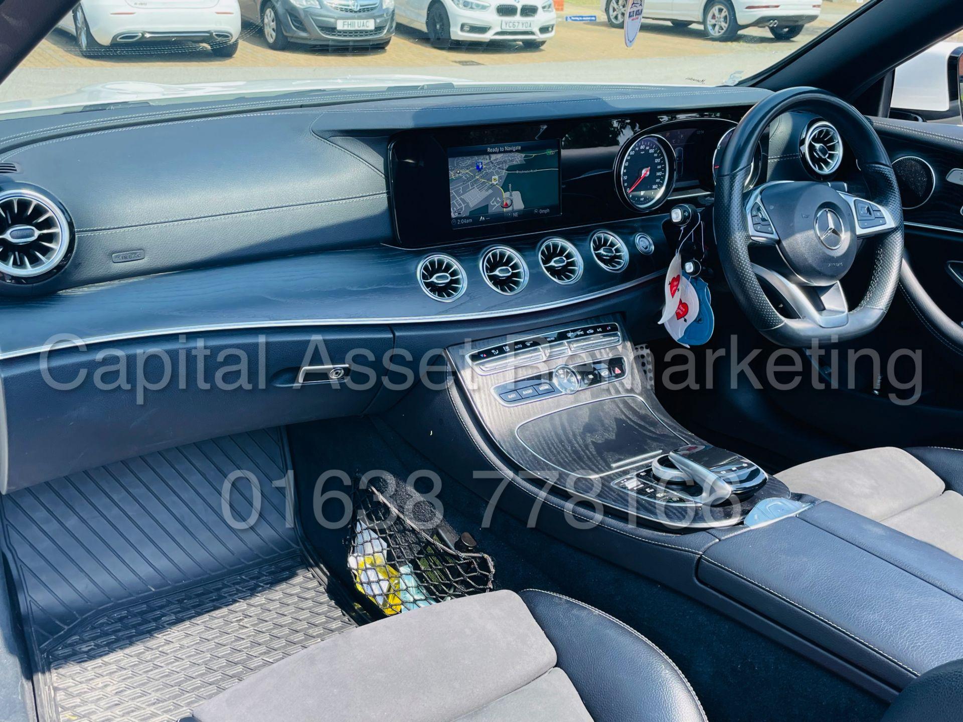 MERCEDES-BENZ E220d *AMG LINE PREMIUM - CABRIOLET* (2018 - EURO 6) '9G AUTO - LEATHER - SAT NAV' - Image 36 of 63