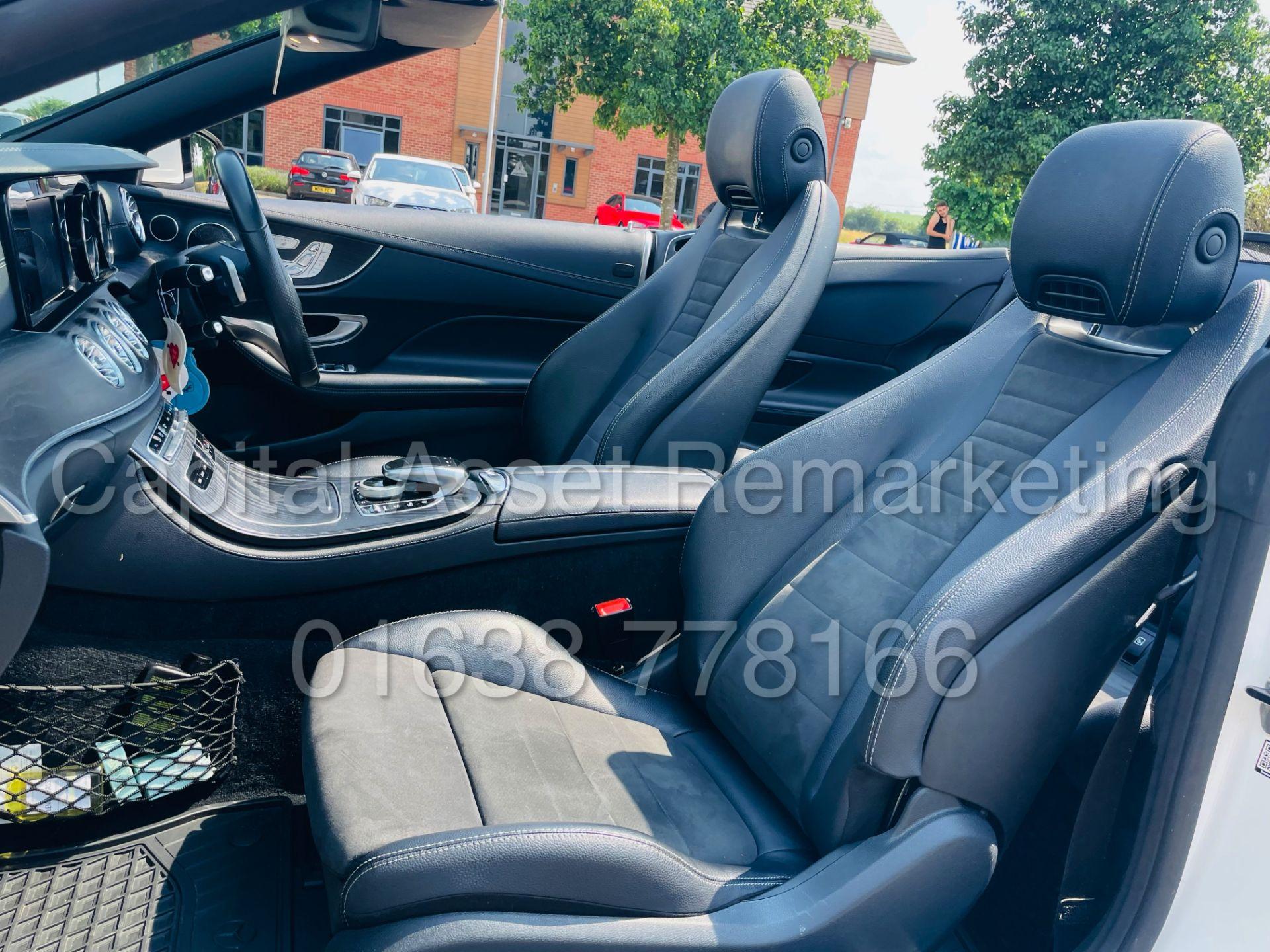 MERCEDES-BENZ E220d *AMG LINE PREMIUM - CABRIOLET* (2018 - EURO 6) '9G AUTO - LEATHER - SAT NAV' - Image 40 of 63