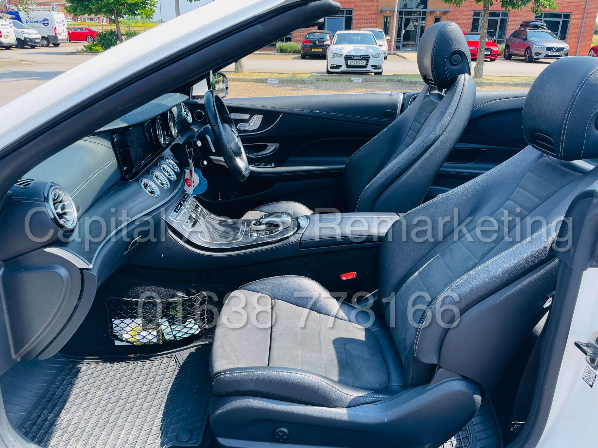 MERCEDES-BENZ E220d *AMG LINE PREMIUM - CABRIOLET* (2018 - EURO 6) '9G AUTO - LEATHER - SAT NAV' - Image 39 of 63