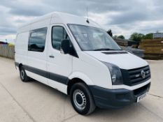 """ON SALE VOLKSWAGEN CRAFTER 2.0TDI (136) MWB """"MESSING UNIT WITH TOILET"""" 15 REG - 1 KEEPER - FULL SPEC"""