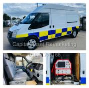 (ON SALE) FORD TRANSIT T350L (11 REG) LWB / HI TOP - FITTED CLEANING SYSTEM -HOT/COLD WATER CONTROLS