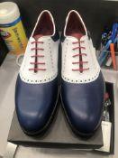 LOT: (1) Saddle Golf Shoes, 10, (2) Corsini Sneakers, (2) 10, (1) Trainer Calfskin Shoes, 10