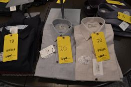 LOT: Hough Light Gray Brushed Shirt, Heath Warm Beige Shirt