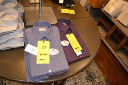 LOT: Tate Heather Blue Shirt, Halsey Cabernet Red Shirt