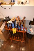LOT: (11) Harvey Canes with Display Rack, (3) J. Toor Canes