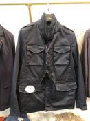 LOT: (4) Todd Reverse Stretch Cotton Navy Jackets, (1)M, (1) L, (1) XL, (1) XXL, (1) Barnum All