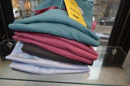 LOT: (1) Charles Long Sleeve Gray Polo, XL, (2) Harry Short Sleeve Polos, (1) L, (1) XL