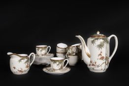 ARTE GIAPPONESE An eight cover white porcelain coffee serviceJapan, 19th century .