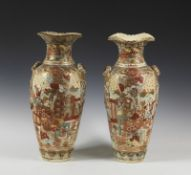 ARTE GIAPPONESE A pair of Satsuma pottery vases Japan, 19th century .