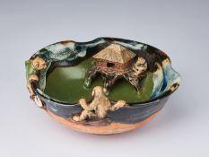 ARTE GIAPPONESE A glazed Sumida ware bowlJapan, taisho, 20th century.
