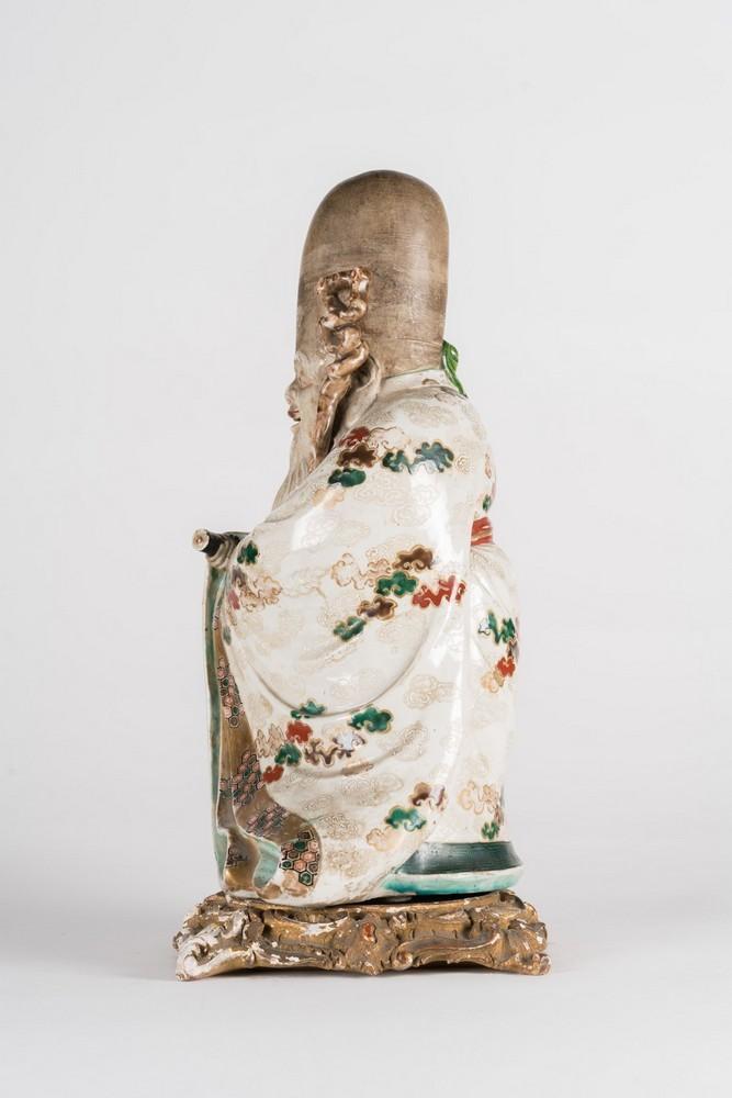 ARTE GIAPPONESE A ko-kutani porcelain figure of FukurukujioJapan, 18th century . - Image 3 of 7