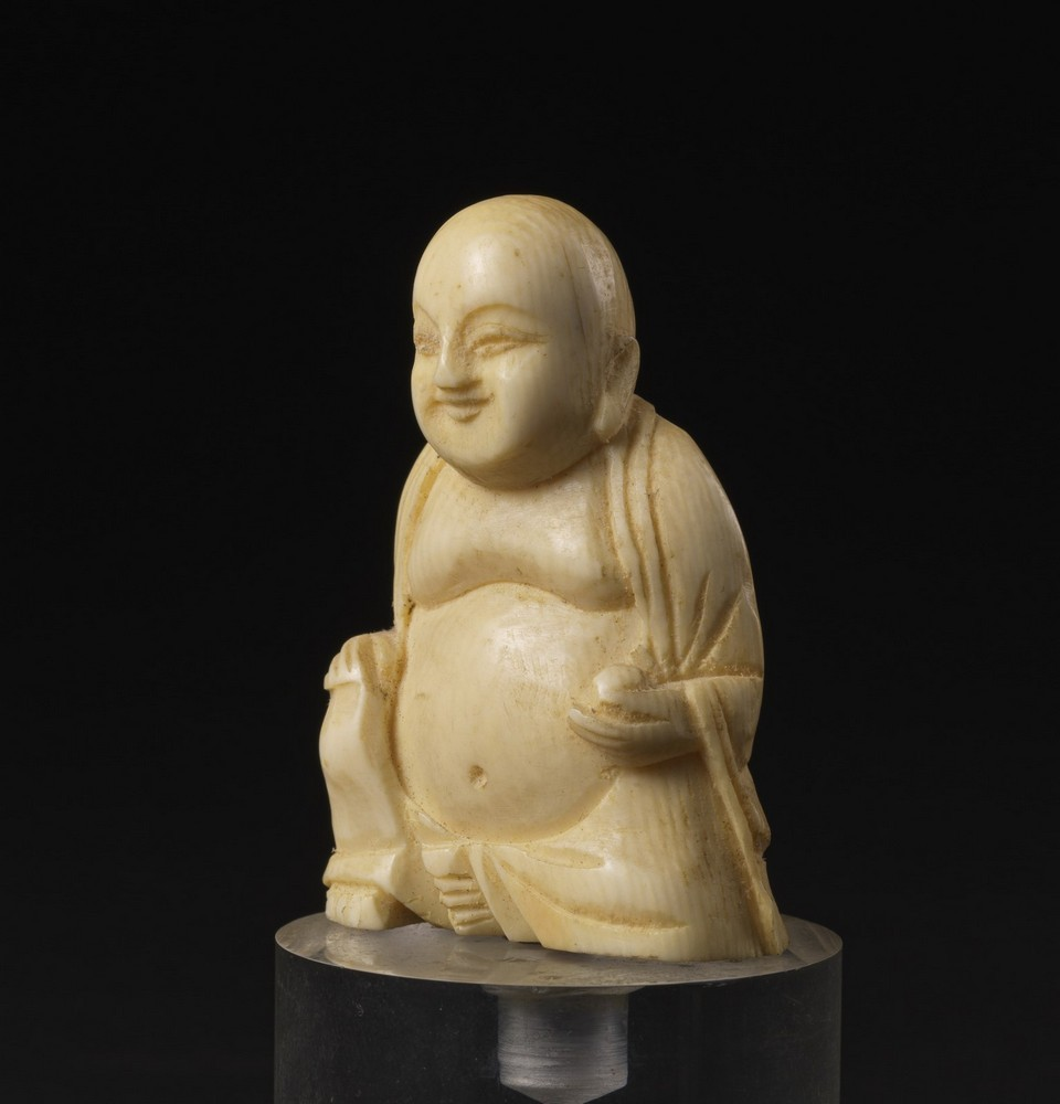 Arte Cinese Two ivory carving: one Budai and a scholar China, late 19th-early 20th century . - Image 6 of 6