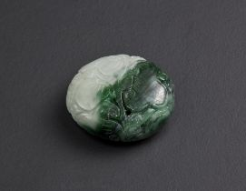 Arte Cinese  Jadeite pendant. China, 20th century.