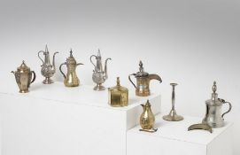 Arte Islamica  A group of nine metalwork  Central Asia and Iran, 19th-20th century .