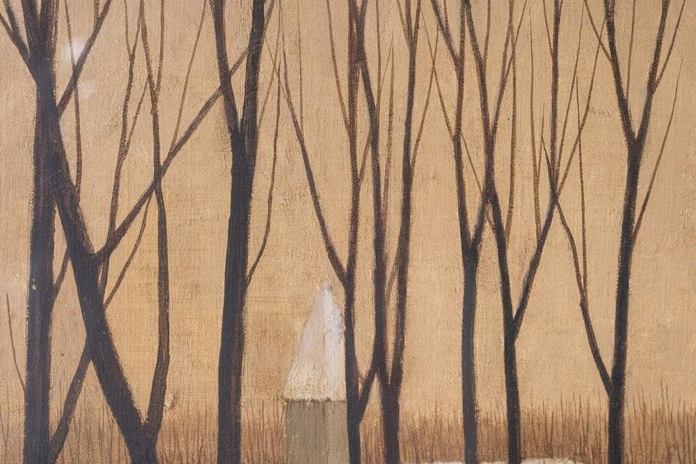 Ryonosuke Fukui Ryonosuke Fukui (1924-1986)Snowy landscape with bare trees Japan, mid 20th century O - Image 3 of 4