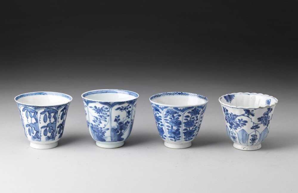 Arte Cinese A group of four blue and white porcelain cups China, Qing dynasty, early 17th century . - Image 2 of 4