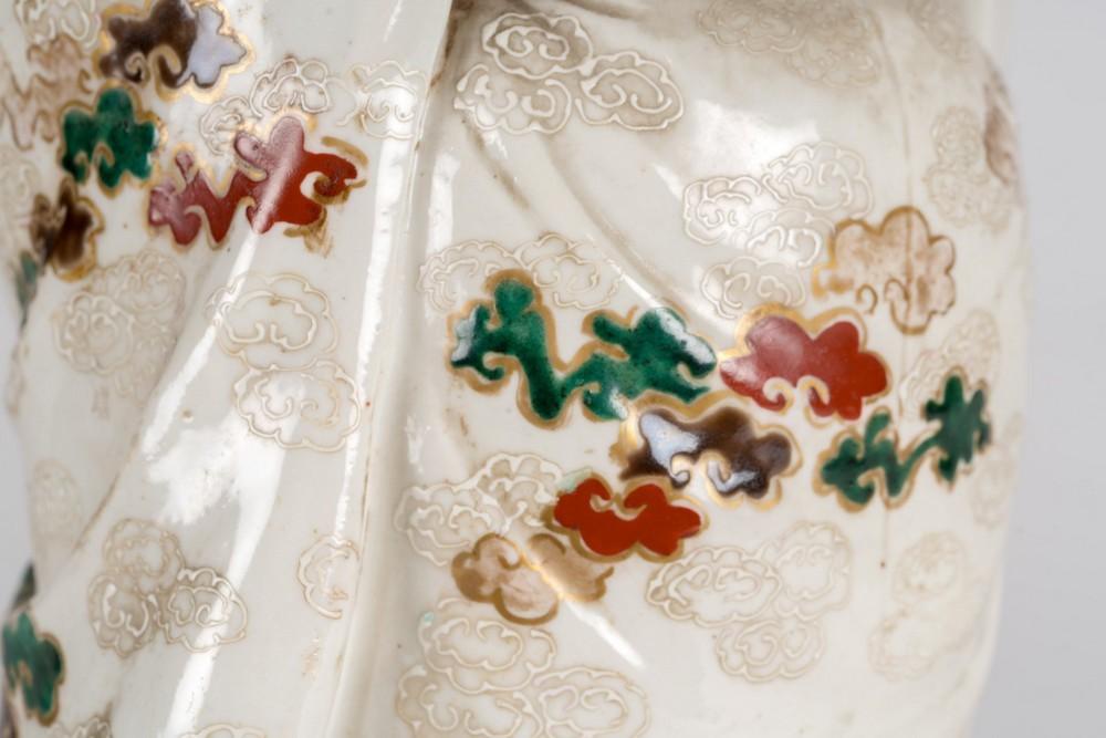 ARTE GIAPPONESE A ko-kutani porcelain figure of FukurukujioJapan, 18th century . - Image 6 of 7