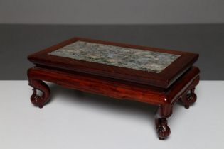 Arte Cinese  A hard wood and granite small table China, Qing dynasty, 18th century .