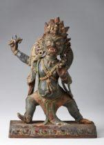 Arte Himalayana  A wood and earthenware figure of Vajrapani Nepal, 17th century .