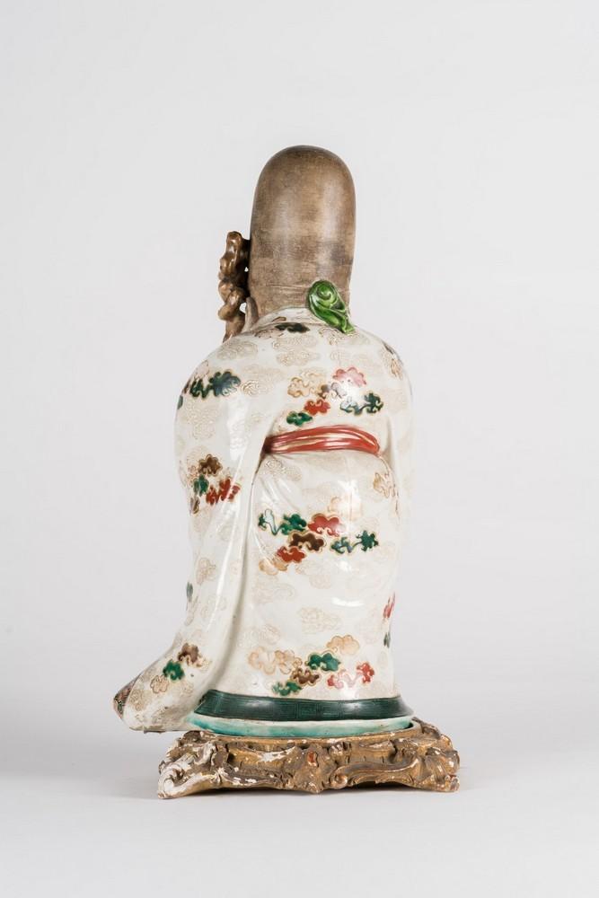 ARTE GIAPPONESE A ko-kutani porcelain figure of FukurukujioJapan, 18th century . - Image 4 of 7