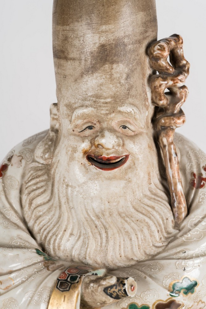 ARTE GIAPPONESE A ko-kutani porcelain figure of FukurukujioJapan, 18th century . - Image 2 of 7