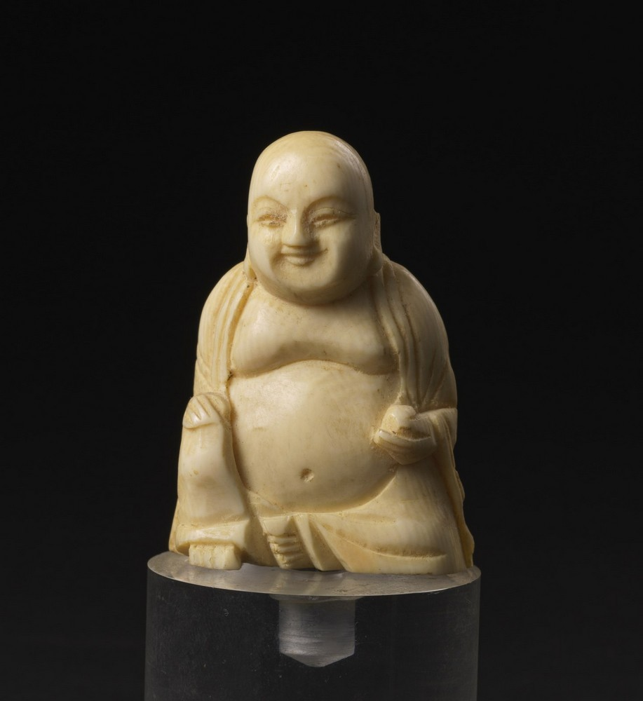 Arte Cinese Two ivory carving: one Budai and a scholar China, late 19th-early 20th century . - Image 5 of 6