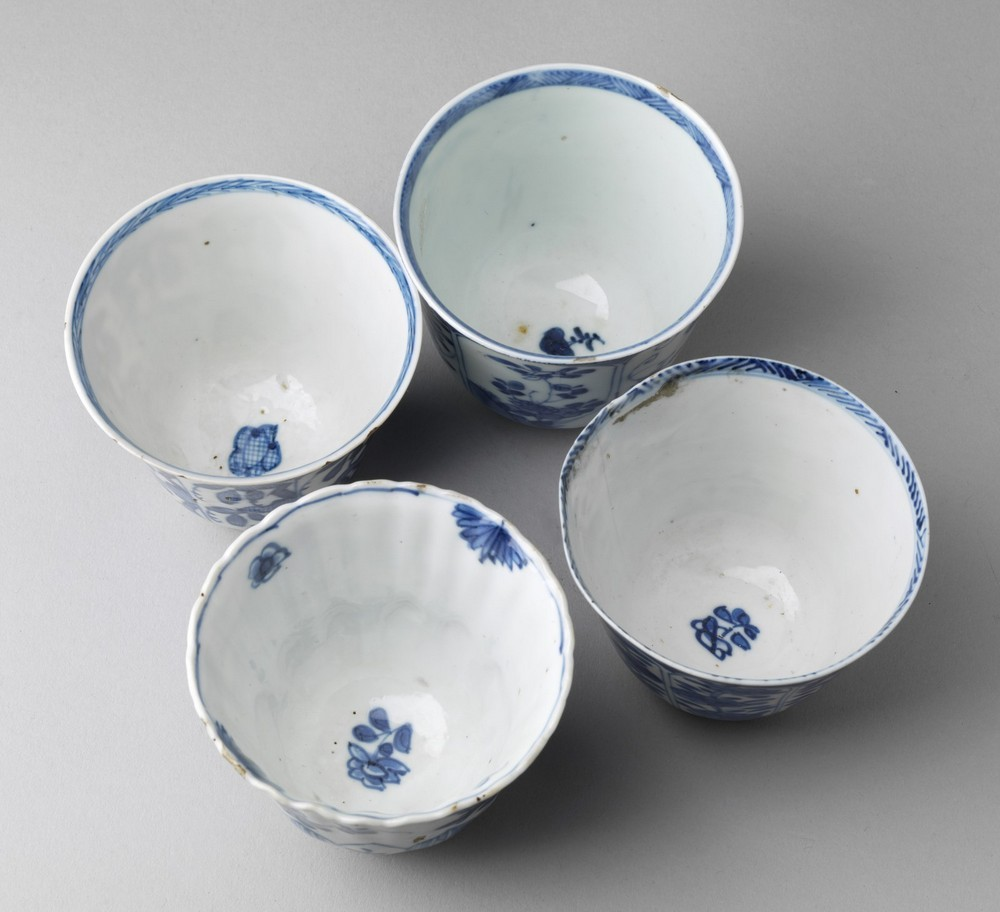 Arte Cinese A group of four blue and white porcelain cups China, Qing dynasty, early 17th century . - Image 3 of 4