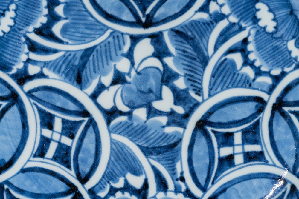 ARTE GIAPPONESE Two blue and white pottery dish Japan, 18th-19th century . - Image 3 of 4