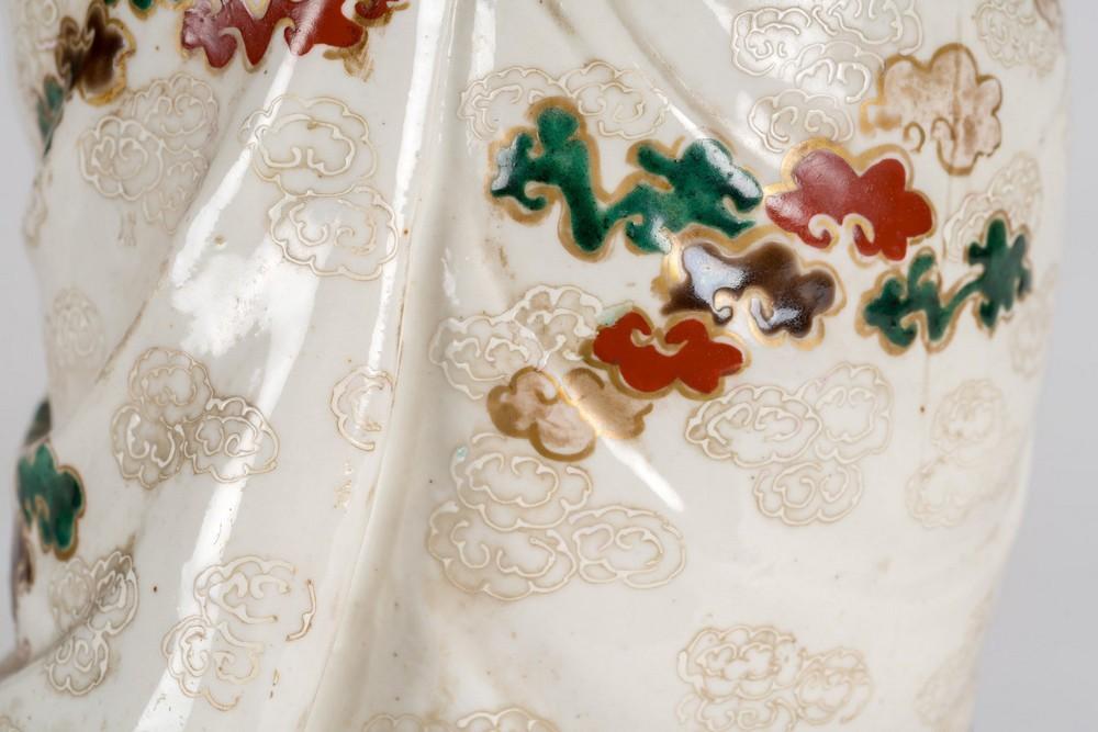 ARTE GIAPPONESE A ko-kutani porcelain figure of FukurukujioJapan, 18th century . - Image 7 of 7