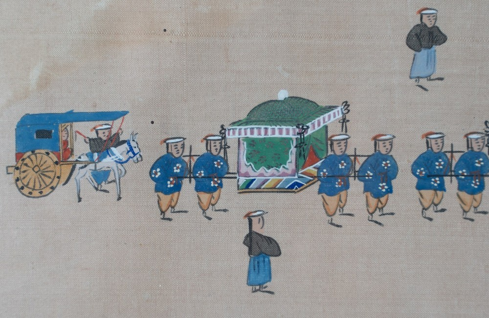. A pair of paintings on silk depicting royal parades Korea, 19th century . - Image 6 of 6