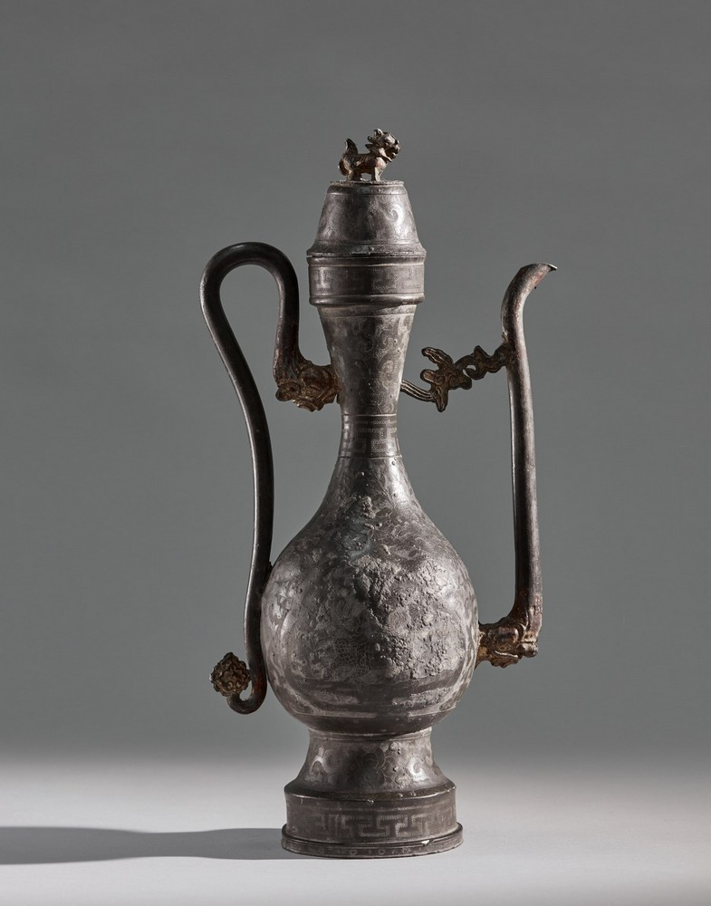 Arte Cinese A pewter ewer China, Ming dynasty . - Image 2 of 2