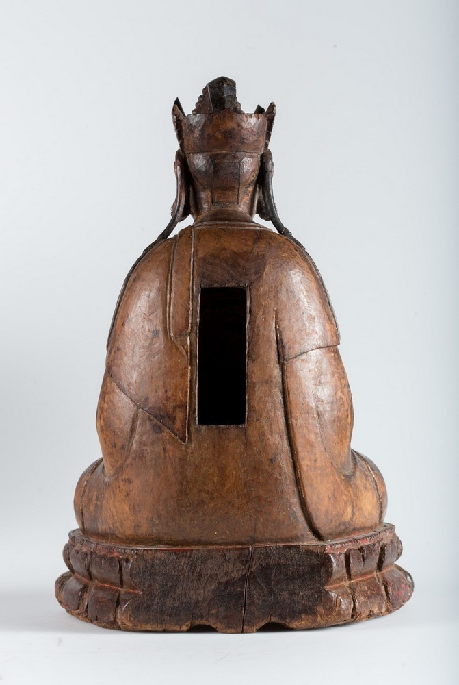 Arte Cinese A hardwood sculpture of Guanyin China, Yuan dynasty, 1279 - 1368. - Image 5 of 7