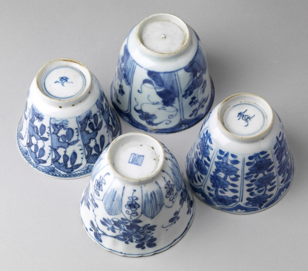 Arte Cinese A group of four blue and white porcelain cups China, Qing dynasty, early 17th century . - Image 4 of 4