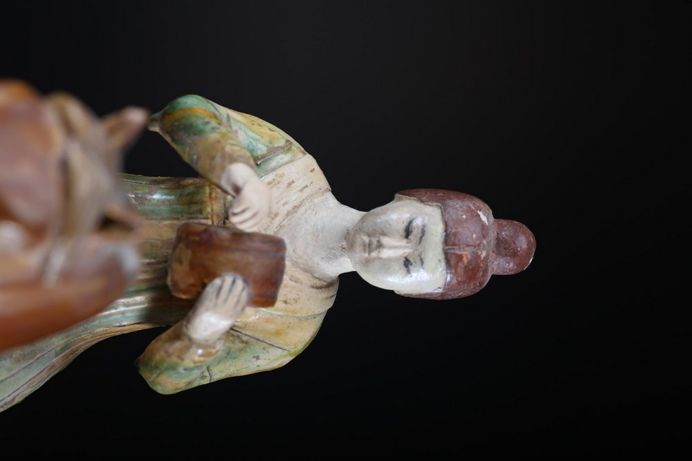 Arte Cinese A ceramic sancai glazed lady on horse in the Tang styleChina, 19th century . - Image 5 of 5
