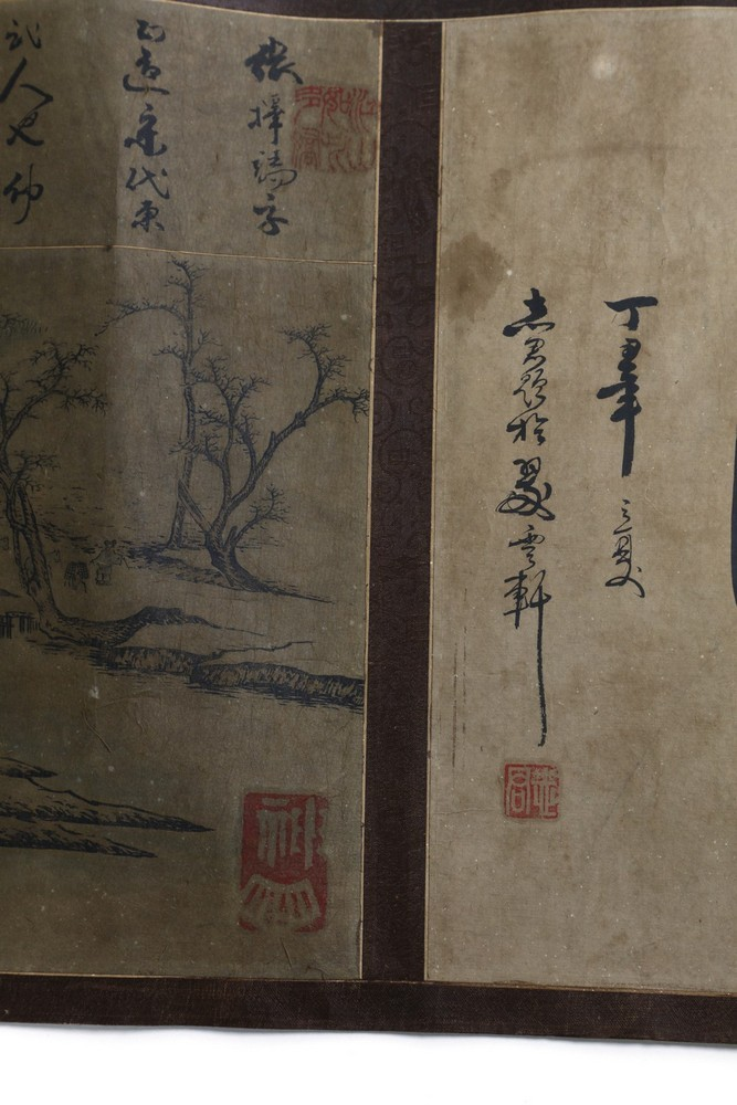 Arte Cinese A very long scroll on paper with a copy of Zhang Zeduan famous painting China, 20th cen - Image 3 of 11