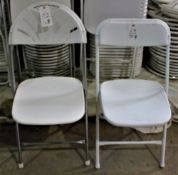 Event Express Folding Fan Chairs White