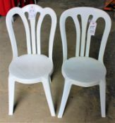 Curve Back White Resin Chairs