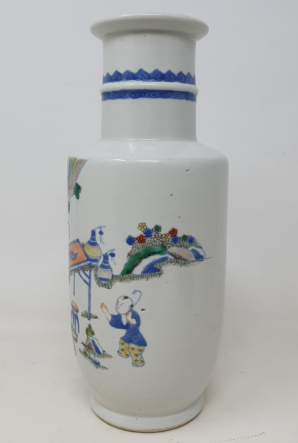 A Chinese vase, decorated figures, 24 cm high - Image 2 of 11