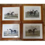 A pair of horse racing prints, Charles XIIth and St Giles, 45 x 56 cm, and another pair, Jack Spigot