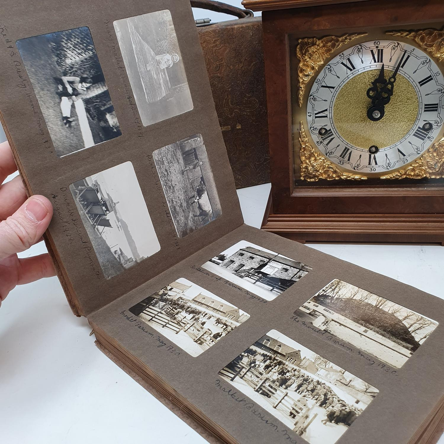 A 20th century mantel clock, an oak box, two coal scuttles, various metalware and other items (qty) - Image 4 of 8